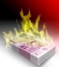 Geld verbrannt und verloren